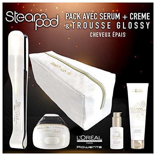 Lisseur vapeur L'oreal Pack Steampod 2.0 trousse glossy cheveux épais