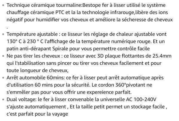 Lisseur BESTOPE Céramique Ecran LCD Température Ajustable 3D Plaques Flottantes