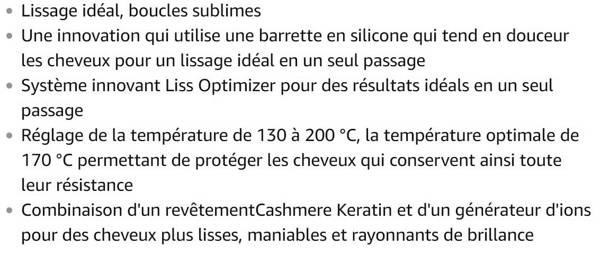 Lisseur Calor SF7660C0 2 en 1 Premium Care Liss and Curl