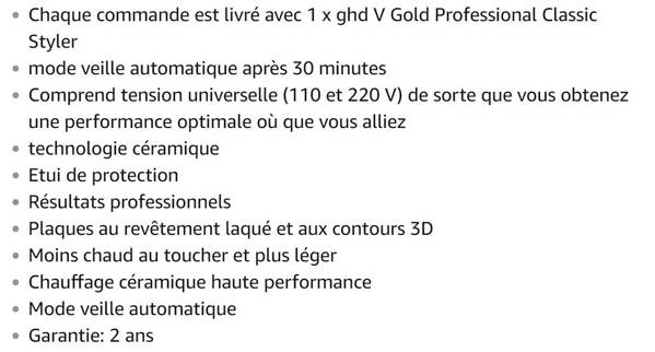 Lisseur GHD Gold Classic Styler
